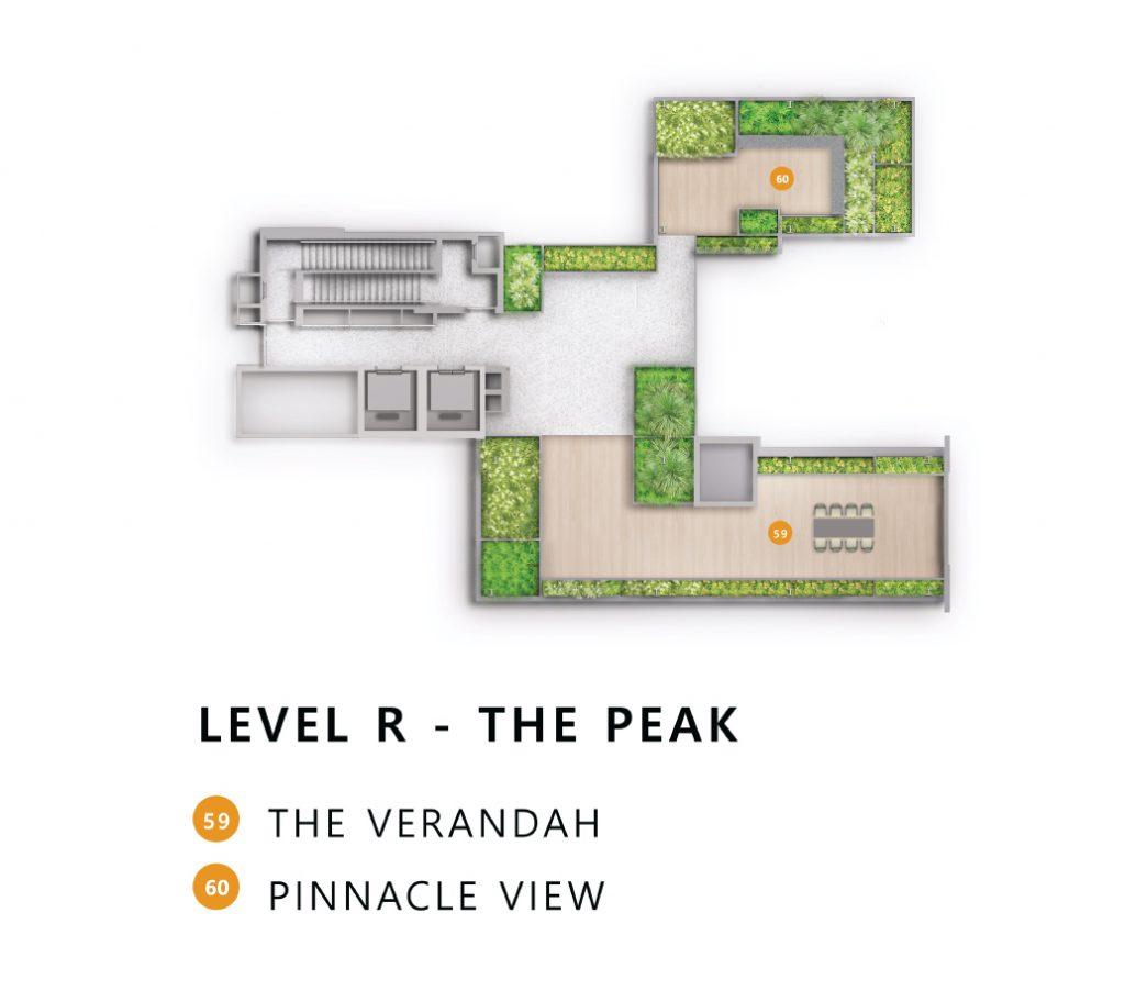 The landmark site plan roof view