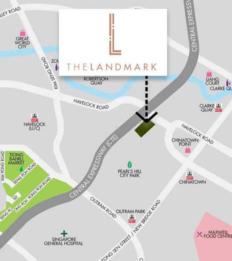 the landmark condo location map singapore
